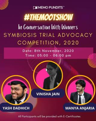 MOOT SHOW TheMootShow: In conversation with Winners - Symbiosis Trial Advocacy Competition, 2020