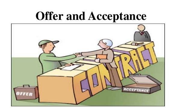 Offer and Acceptance under Law of Contracts