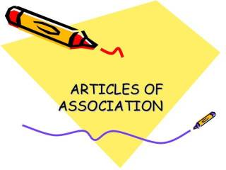 Articles of Association - Companies Act, 2013: An Overview