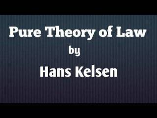 Kelsen's pure theory of law