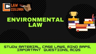 Public Interest Litigation and Protection of the Environment