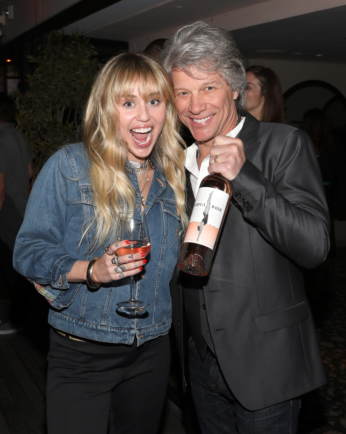 Miley Cyrus and Jon Bon Jovi; Credit: Jerritt Clark for Getty Images