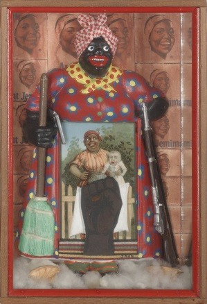 Betye Saar, The Liberation Of Aunt Jemima, 1972. Collection of the Berkeley Art Museum Pacific Film Archive. Courtesy of the artist and Roberts Projects.; Credit: Benjamin Blackwell