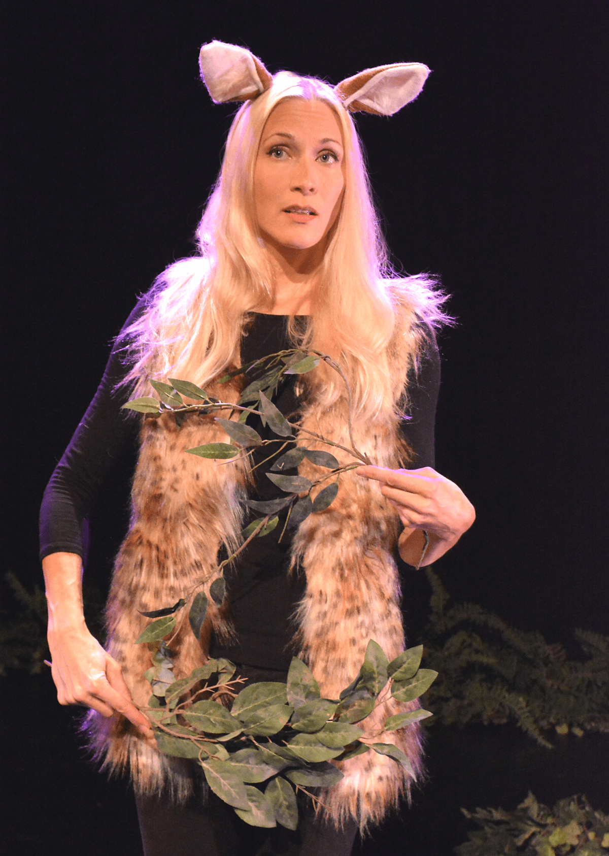 Amy Raasch as the Fawn in Animal Monologues; Credit: Ed Krieger