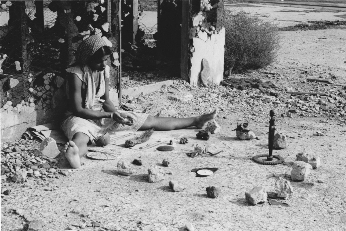 Barbara McCullough, production still from Water Ritual #1 — An Urban Rite of Purification (1979); Credit: Courtesy of the artist and UCLA Film & Television Archive