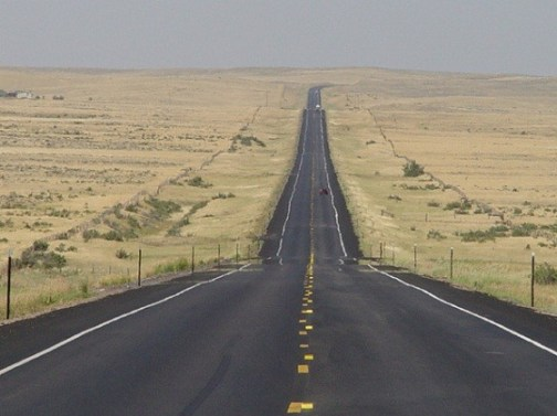 Bill Owens' view on the open road; Credit: Bill Owens