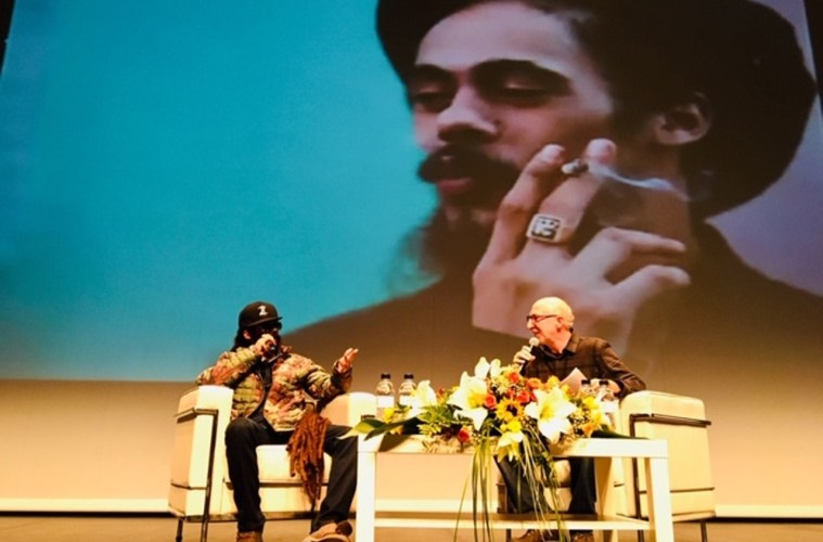 Damian Marley's fireside chat concludes this year's Barcelona International Cannabis Business Conference.; Credit: Michael Miller