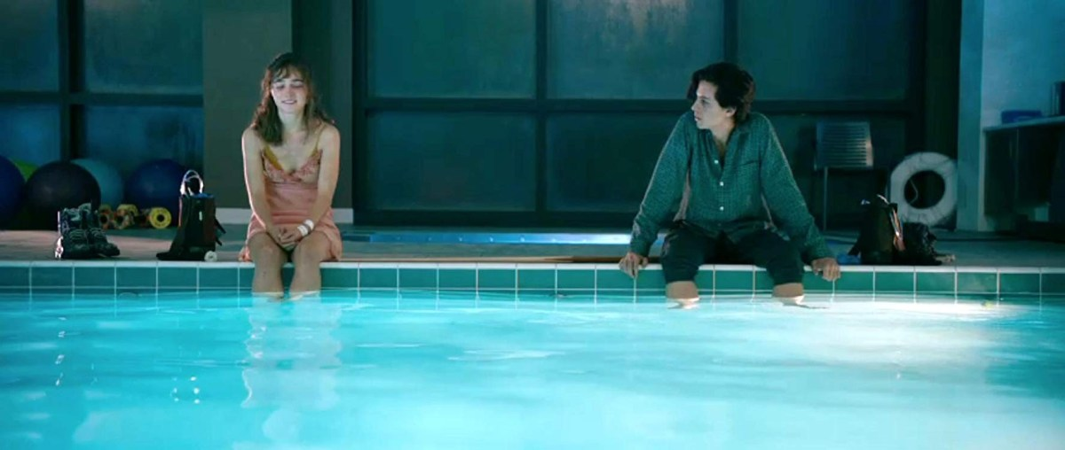 Haley Lu Richardson and Cole Sprouse in Five Feet Apart; Credit: Lionsgate