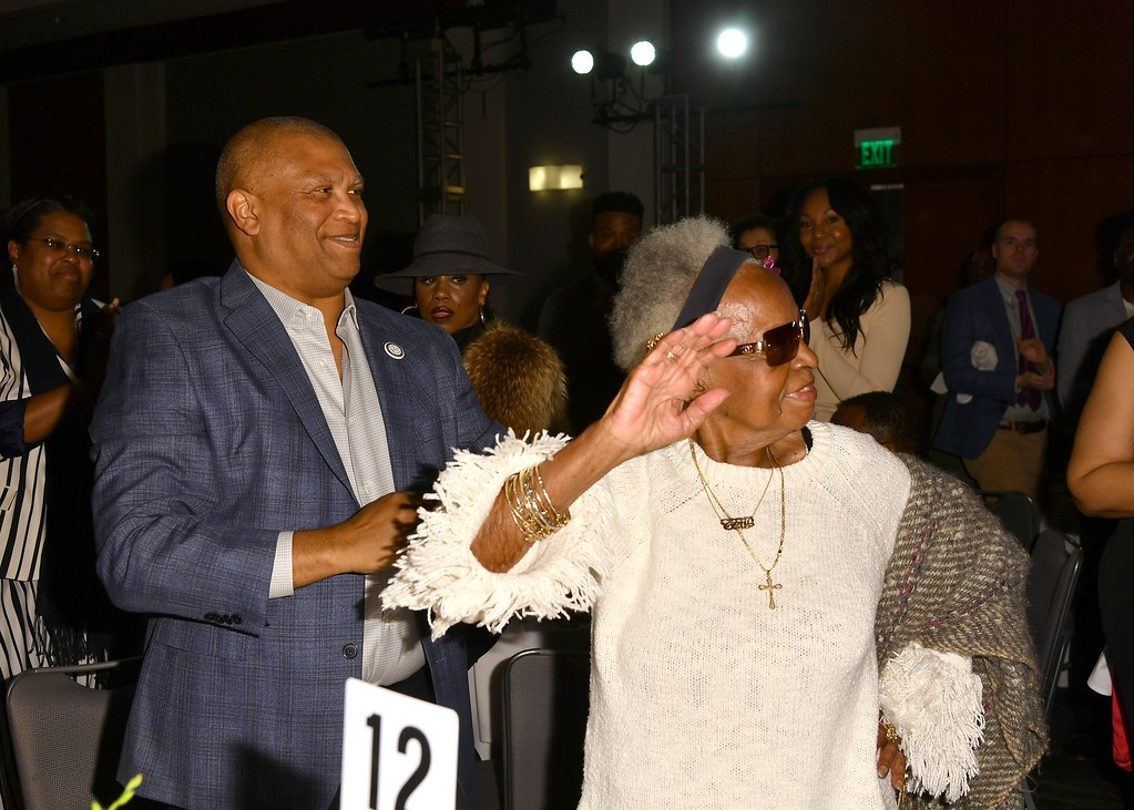 Toni Vaz and guest celebrate 50 years of the Image Awards she created.; Credit: Courtesy NAACP