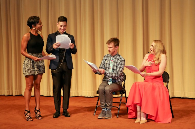 Stars from big and small screens read the works of WriteGirl's young scribes at Lights