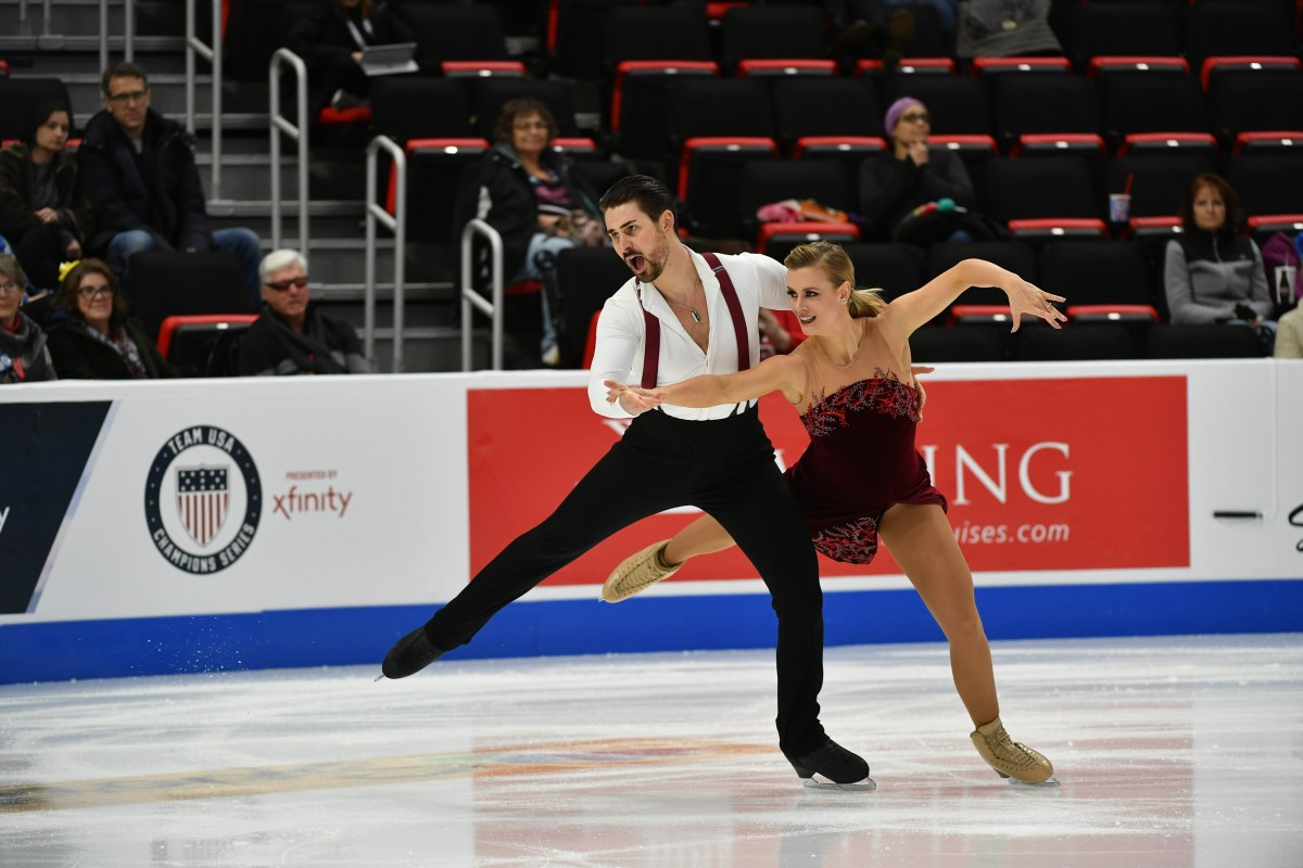 Madison Hubbell & Zachary Donohue in Detroit; Credit: Jay Adeff/U.S. Figure Skating