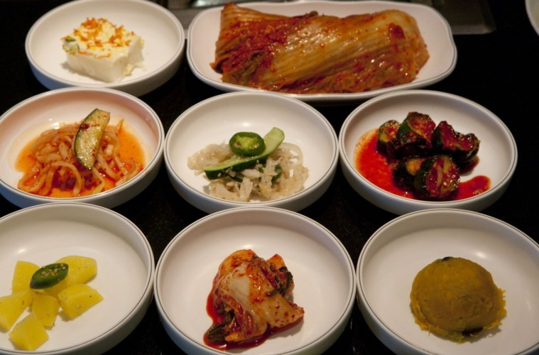 Banchan at Park's BBQ; Credit: Anne Fishbein