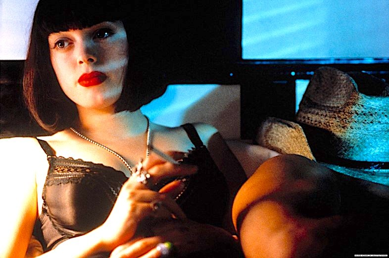 Rose McGowan's star-making turn in The Doom Generation; Credit: Strand Releasing