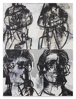 George Condo, Self-Portraits Facing Cancer 1 (2015); Credit: Courtesy Sprüth Magers