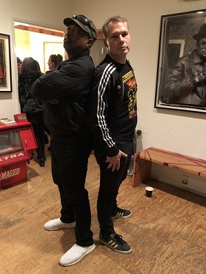 Chuck D and Shepard Fairey at Subliminal Projects; Credit: Shirley Ju