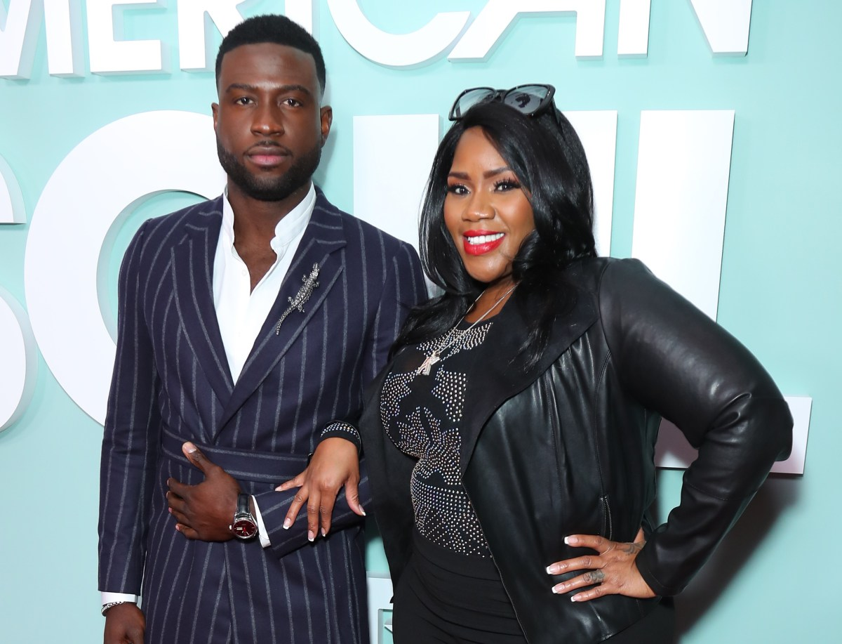 Sinqua Walls and Kelly Price at last night's L.A. premiere of American Soul. ; Credit: Getty Images for BET