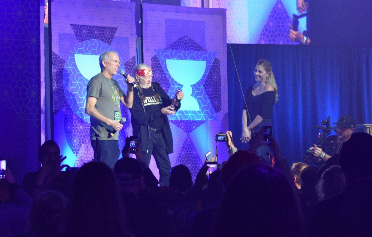 Willie Nelson received an honorary award at the 2018 Emerald Cup, and it will hereafter be known as the Willie Nelson Award for future honorees.; Credit: Jimi Devine