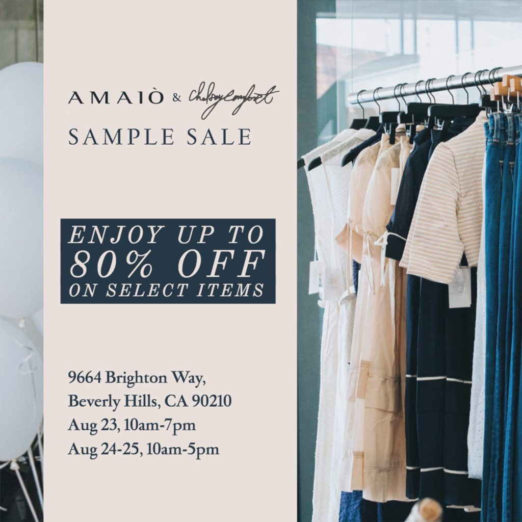 FASHION POP-UP AND SAMPLE SALE IN BEVERLY HILLS!