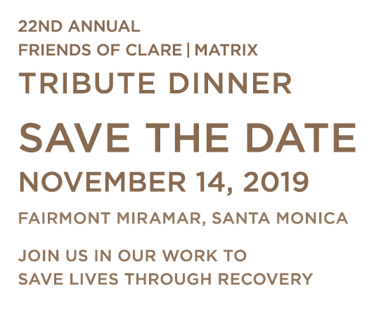 Friends of CLARE|MATRIX 22nd Annual Tribute Dinner