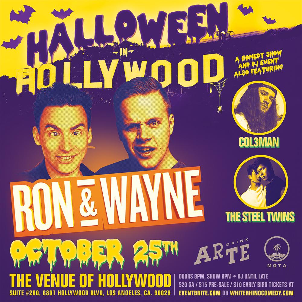 Halloween in Hollywood: Comedy & DJ's