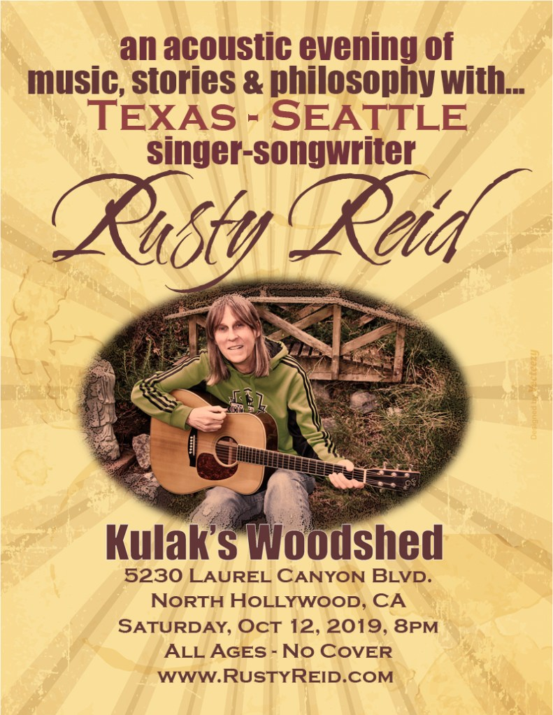 An Acoustic Evening with Texas-Seattle Singer-songwriter Rusty Reid