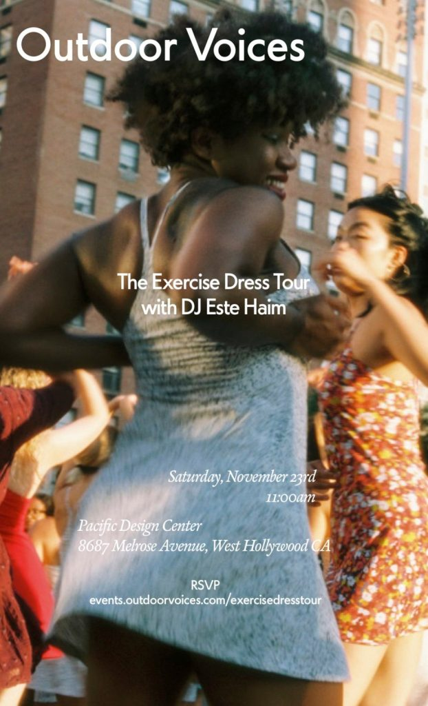 Outdoor Voices' The Exercise Dress Tour with DJ Este Haim