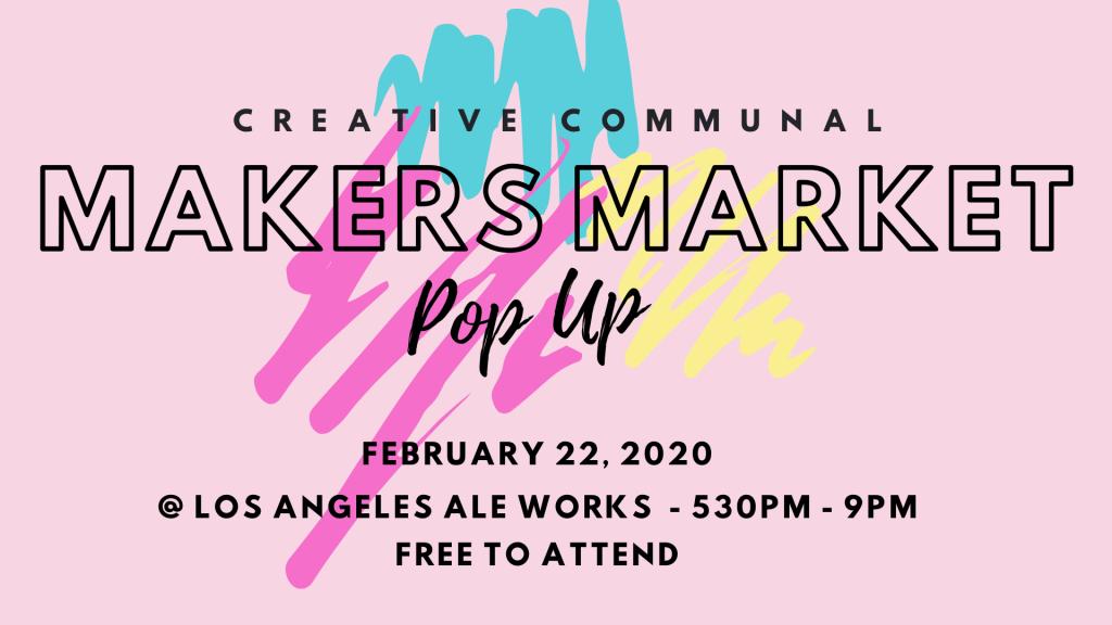 Creative Communal Presents Makers Market Pop-Up