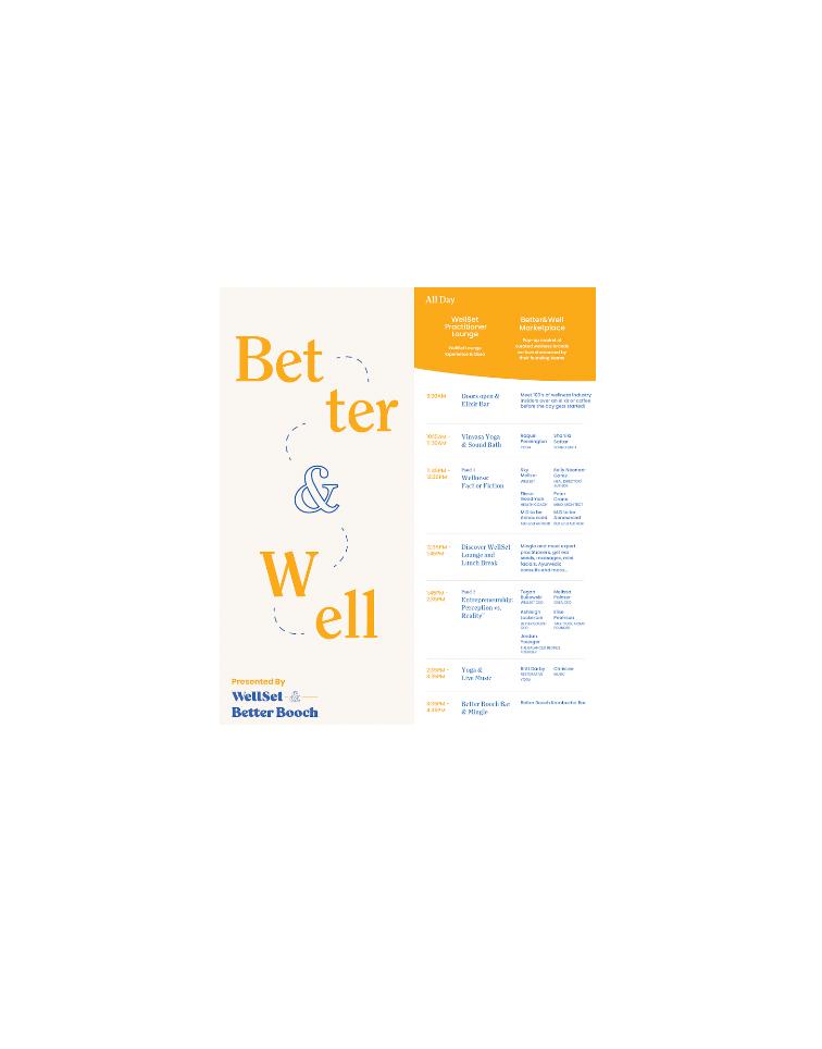 Better&Well presented by Better Booch and WellSet