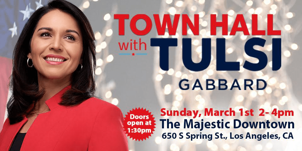 Tulsi Town Hall at the Majestic Downtown