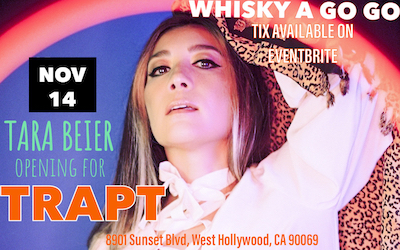 "Come celebrate Tara Beier's album release ""Super Bloom"" then catch TRAPT!"