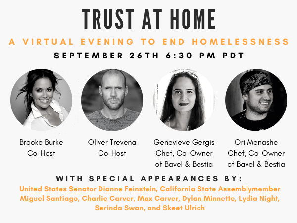 Trust at Home – A Virtual Evening to End Homelessness