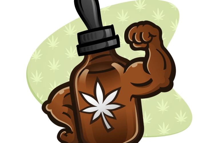 Strong CBD Oil bottle graphic