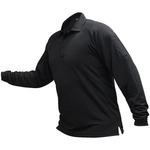 VERTX MENS COLDBLACK LONG SLEEVE POLO