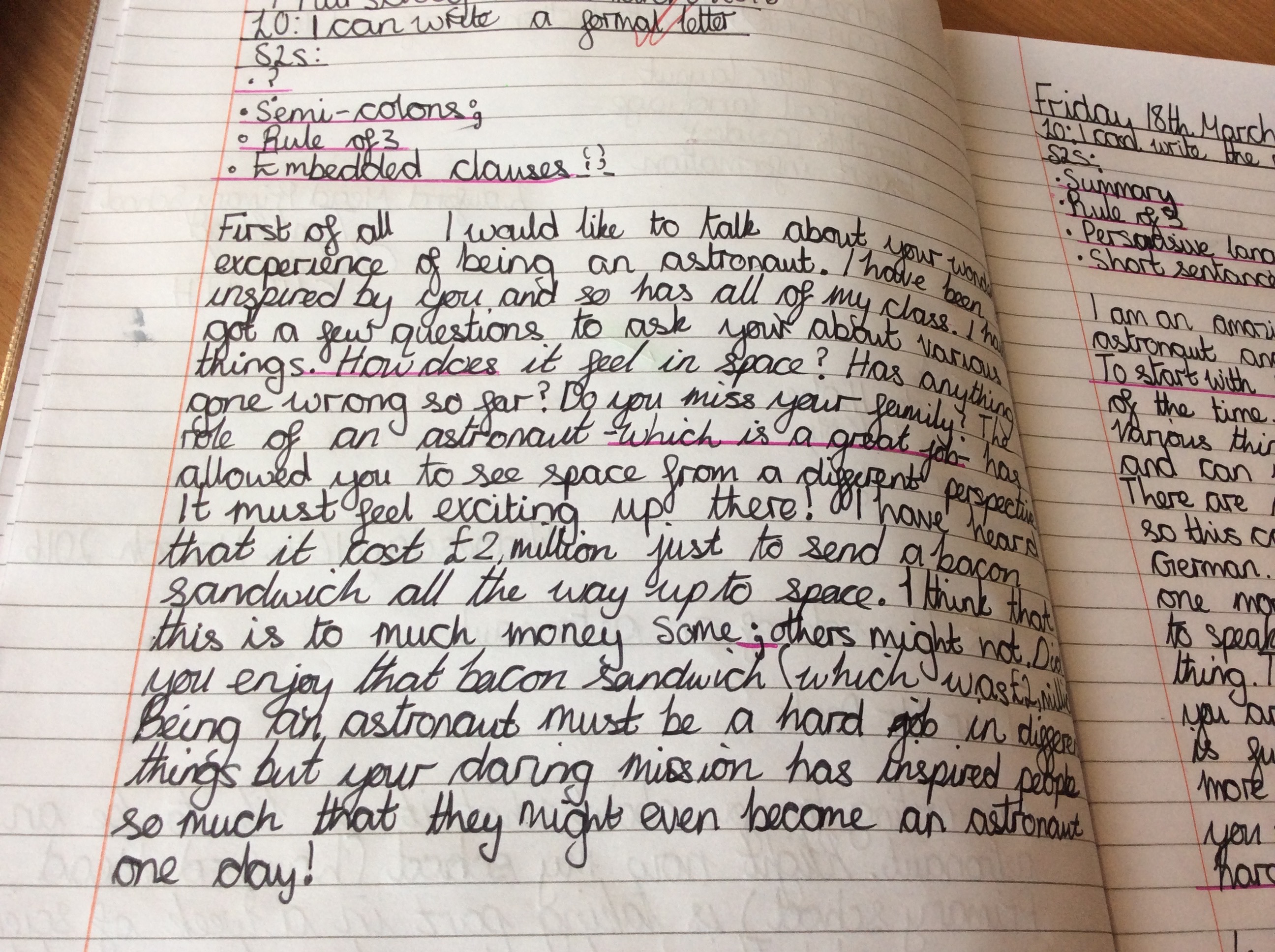 Persuasive Writing Letter Year 6