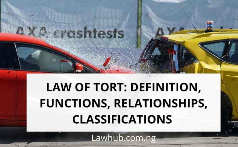 Law of Tort: Definition, Functions, Relationship, Classifications