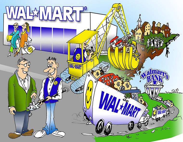 Wal-Mart, cartoon