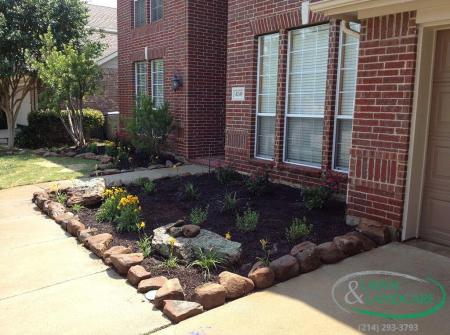 completed flower planting and design
