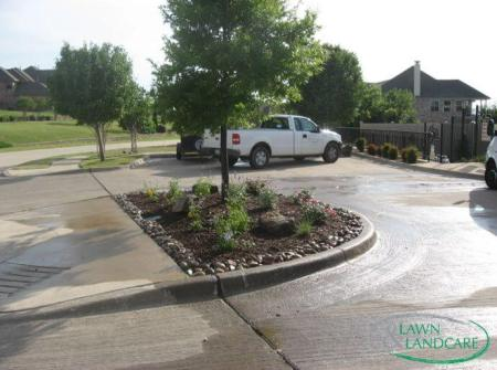 Texas front yard design