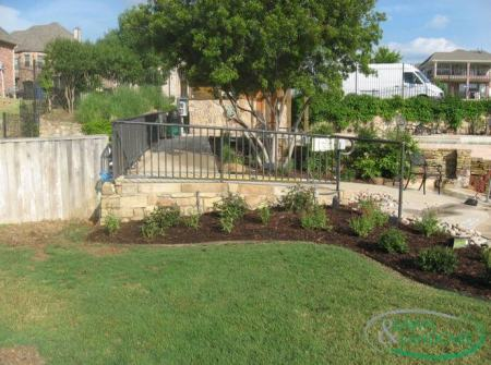 Landscaping design in Allen TX railing