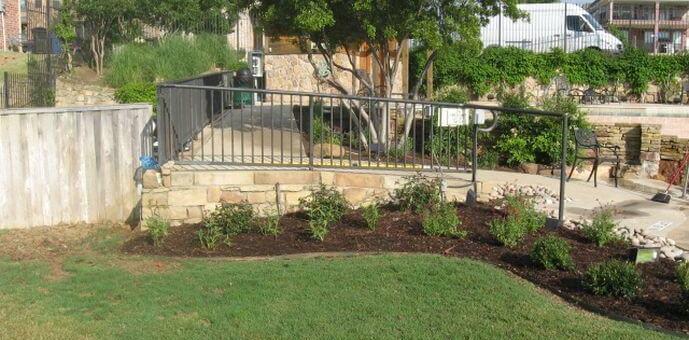 Landscaping design in Allen TX railing