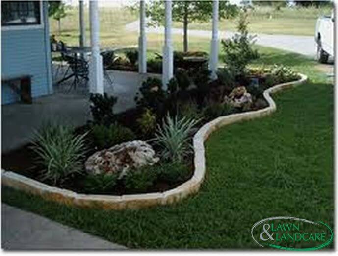 landscaping around the house