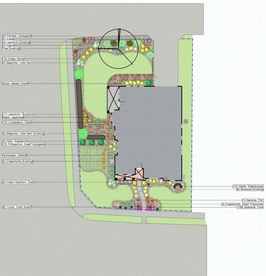 landscaping design install blueprint