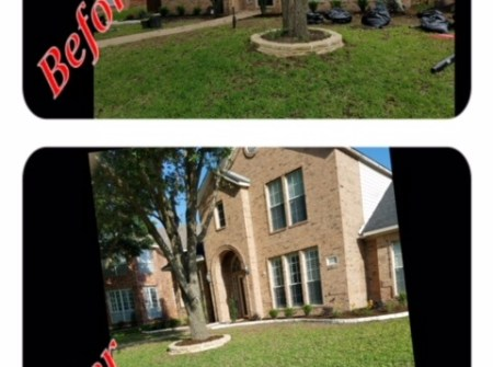 before and after landscaping texas