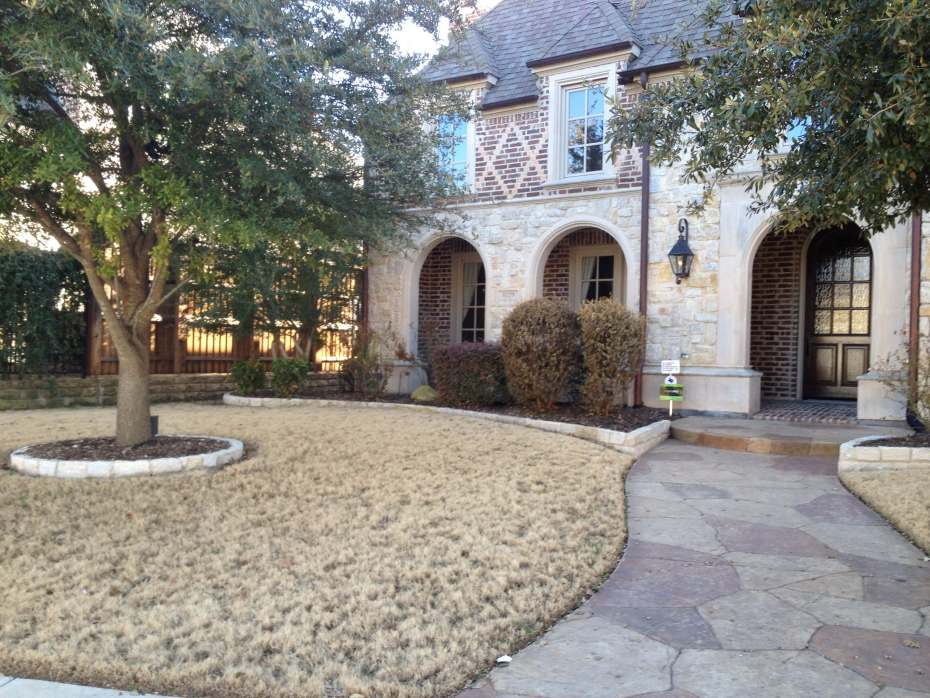 using raised bed to accent a lawn texas