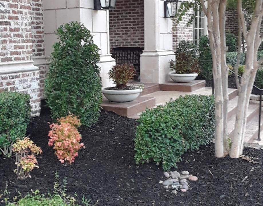 stairway entrances with side gardens dallas texas