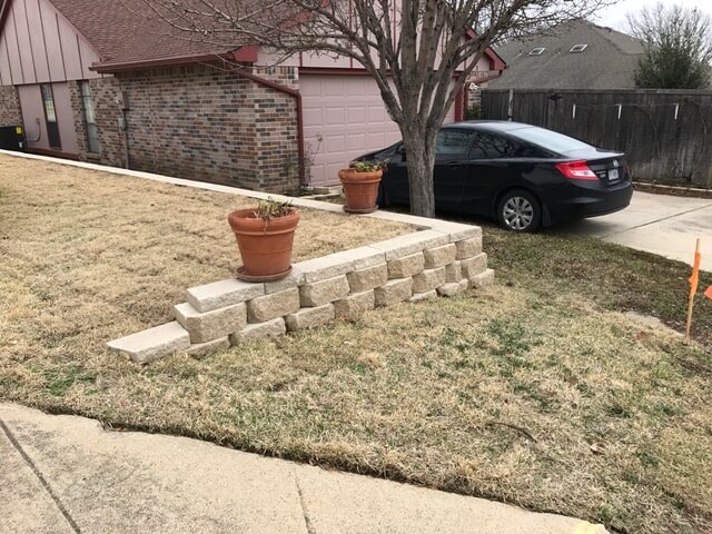 lawn and landcare retaining wall
