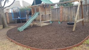 playground landscape edging
