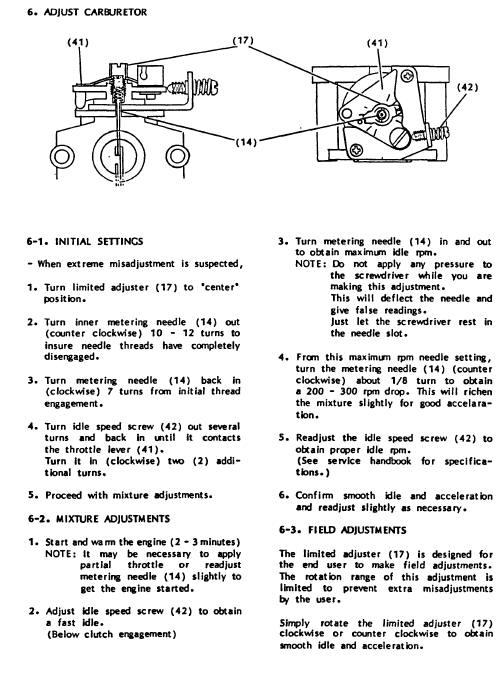 2-Cycle Carburetor Rebuilding