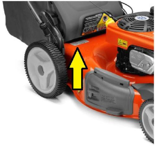 Husqvarna Push Mower Model Number Location
