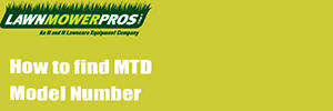 How to find MTD model number